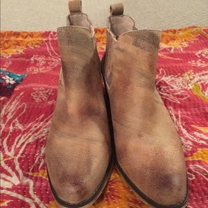 Shoes - Intentionally Blank distressed leather booties